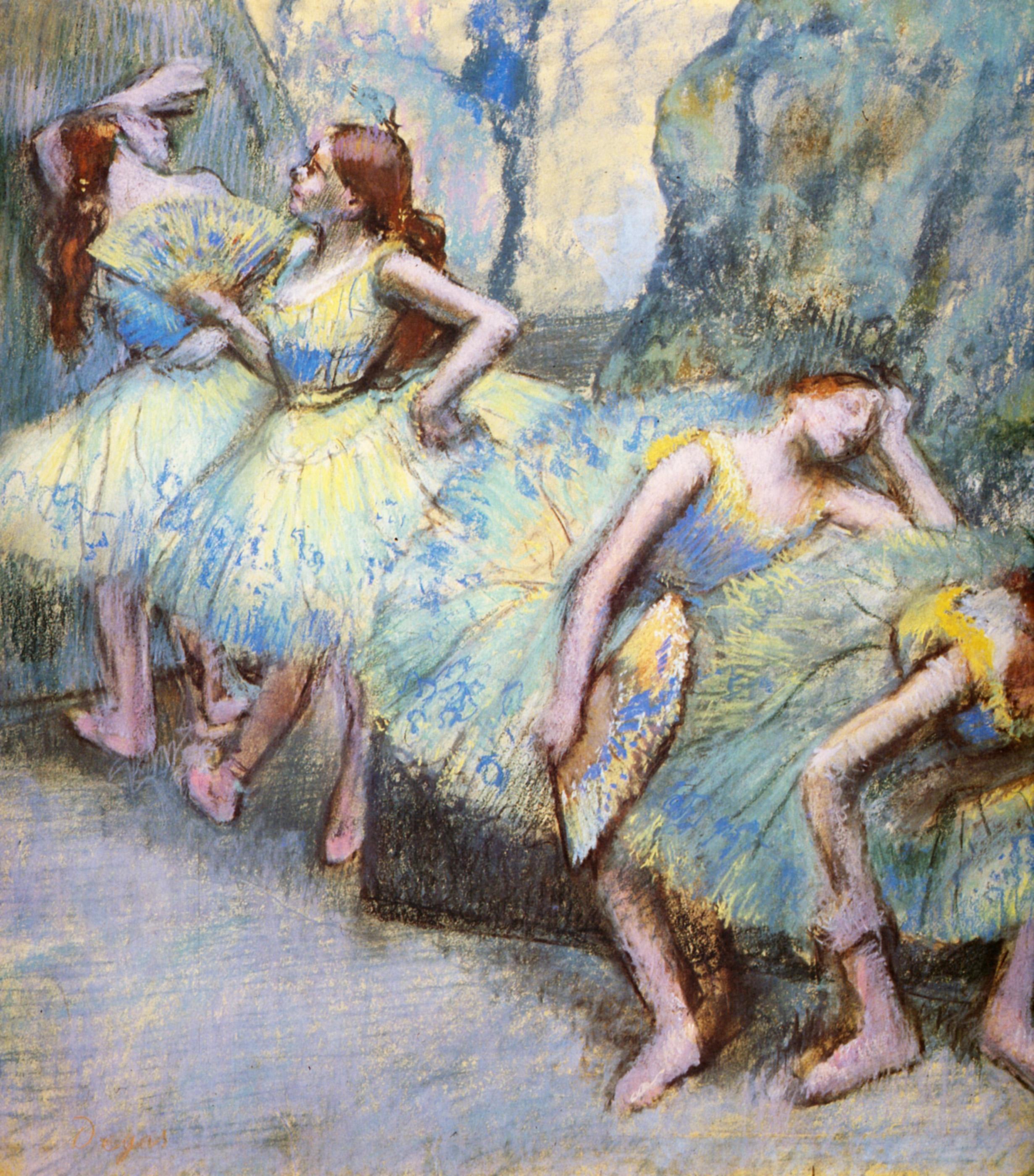 Ballet Dancers in the Wings, 1900 - Edgar Degas - WikiArt.org