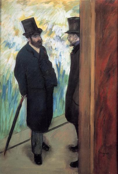Friends at the Theatre, Ludovic Halevy and Albert Cave, 1879 - Edgar Degas