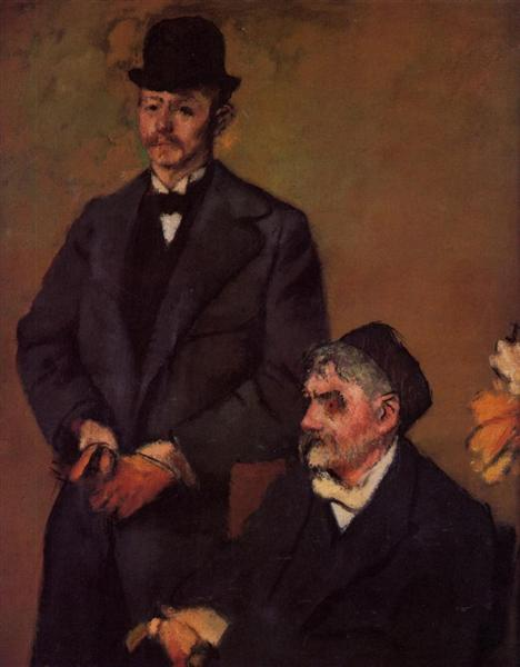 Henri Rouart and His Son Alexis, c.1895 - c.1898 - Edgar Degas