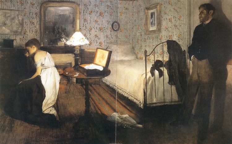 Interior (The Rape), 1868 - 1869 - Edgar Degas