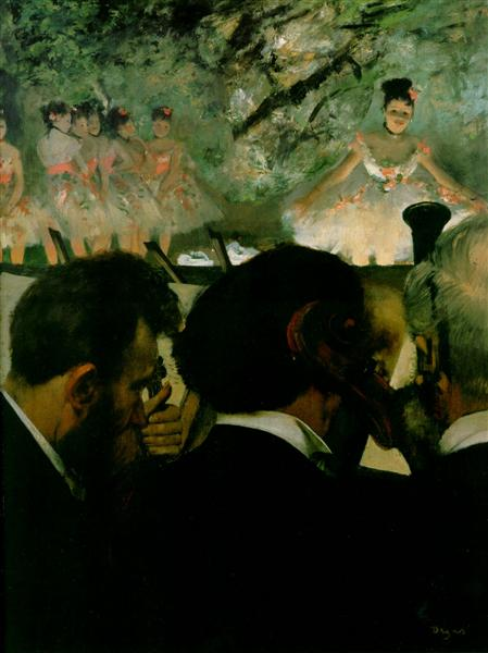 Musicians in the Orchestra, 1872 - Edgar Degas