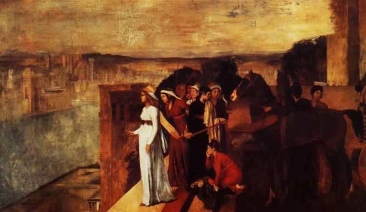 Semiramis Building Babylon, 1861 - Edgar Degas