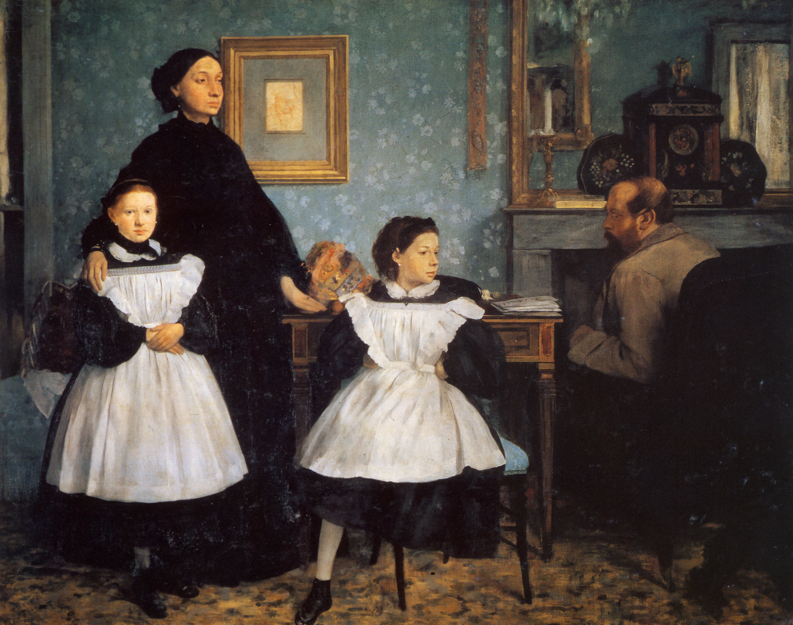 a visual analysis of a painting of the belleli family by edgar degas Edgar degas, the bellelli family, 1858-67, oil on canvas, 78-3/4 x 98-1/2   preparatory sketches for the painting may have been made in florence where  the family  especially in a portrait and although this is not a traditional formal  portrait,.
