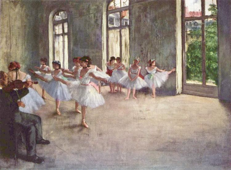The Rehearsal, c.1873 - c.1878 - Edgar Degas - WikiArt.org