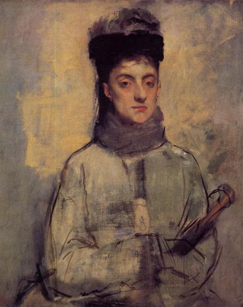 Woman with an Umbrella, c.1876 - Edgar Degas