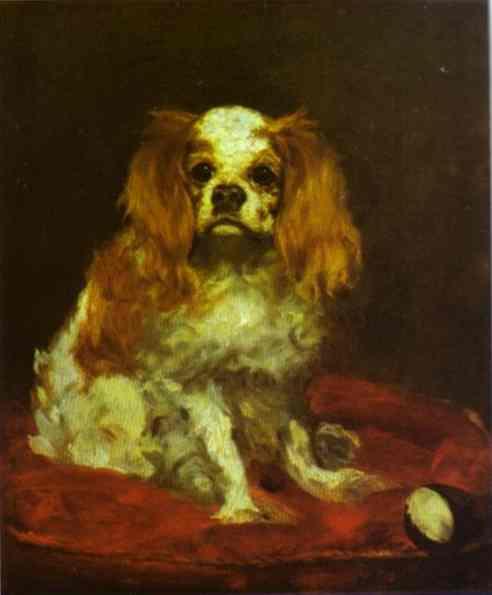 A King Charles Spaniel, c.1866 - Edouard Manet