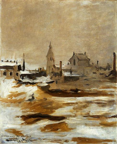 Effect of Snow at Petit-Montrouge - Edouard Manet