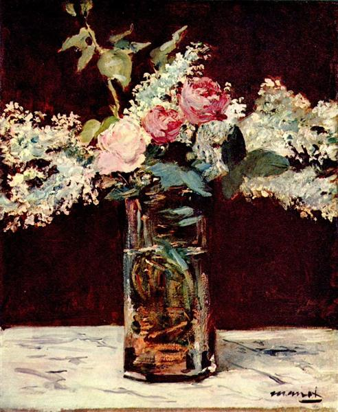 Lilac and roses, 1883 - Edouard Manet