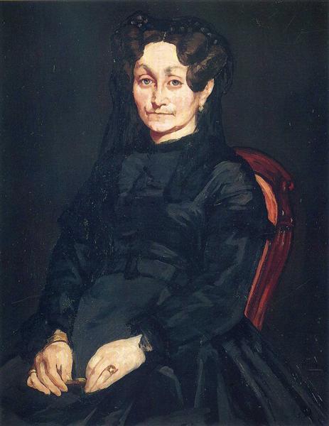 Madame Auguste Manet, c.1865 - Edouard Manet