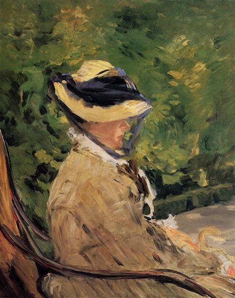 Madame Manet at Bellevue, 1880 - Edouard Manet