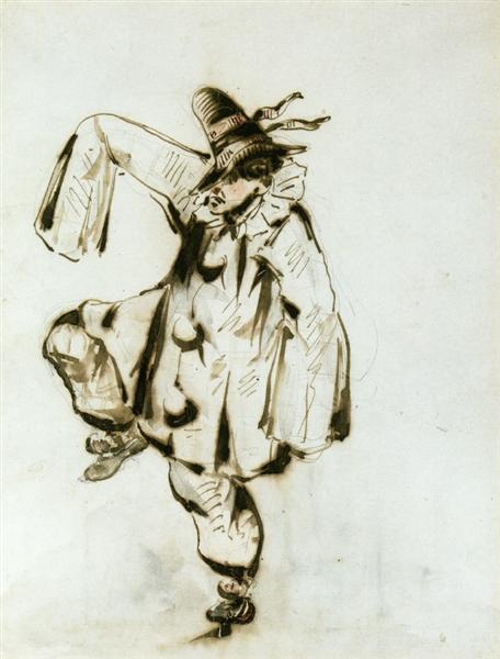 Pierrot dancing, 1849 - Edouard Manet