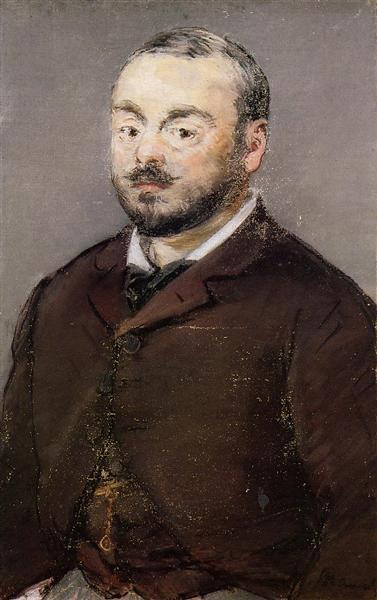 Portrait of composer Emmanual Chabrier, c.1880 - Едуар Мане