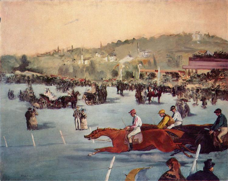 The Races in the Bois de Boulogne, 1872 - Edouard Manet