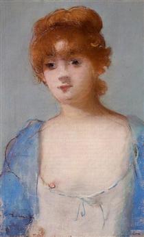 Giovane donna in vestaglia - Edouard Manet