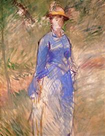 Giovane donna in giardino - Edouard Manet