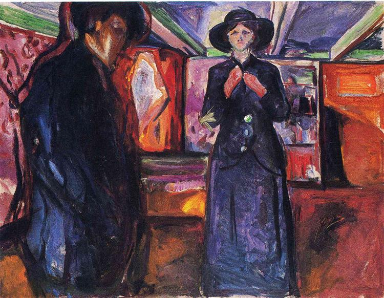 Man and Woman II, 1912 - 1915 - Edvard Munch
