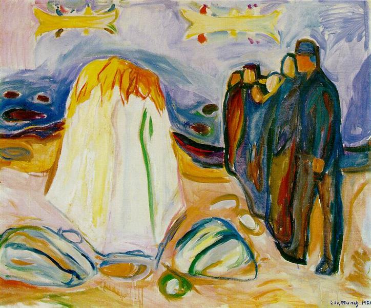 Meeting, 1921 - Edvard Munch