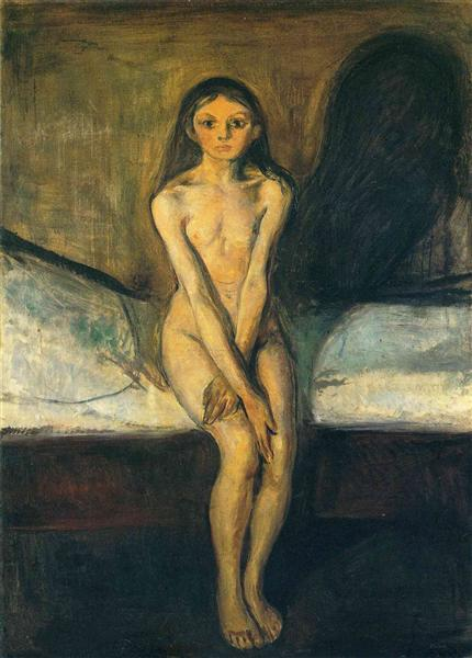 Puberty, 1894 - Edvard Munch