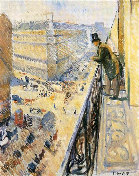 Street Lafayette, 1891 - Edvard Munch