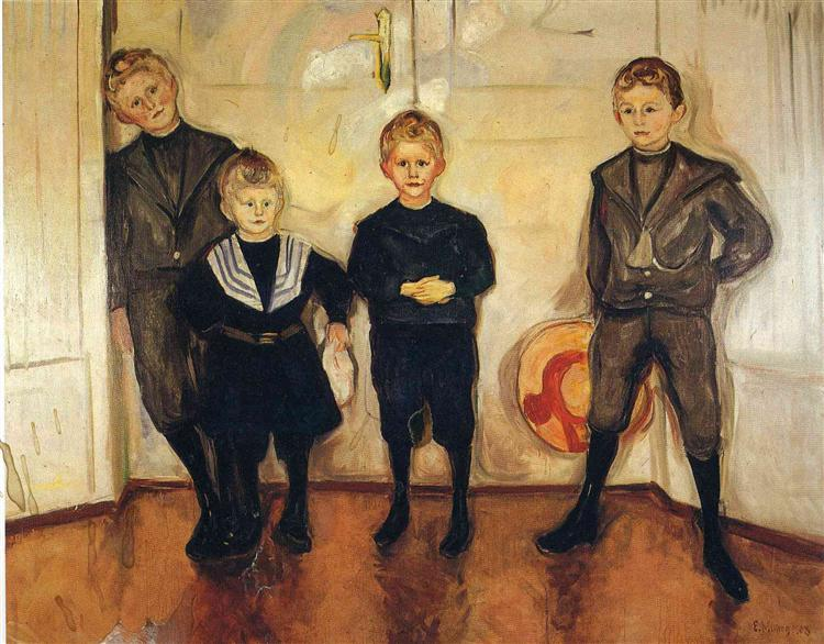 The Four Sons of Dr. Linde, 1903 - Edvard Munch