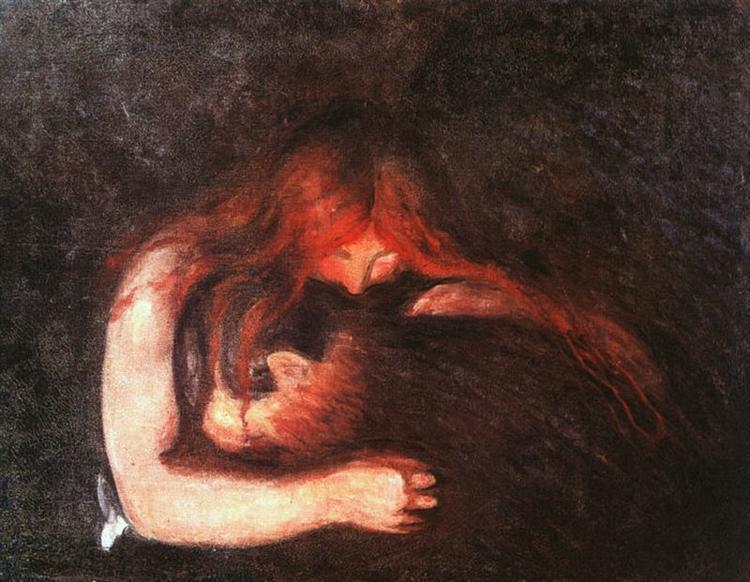 Vampire, 1895 - Edvard Munch