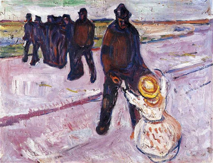 Worker and Child, 1908 - Edvard Munch