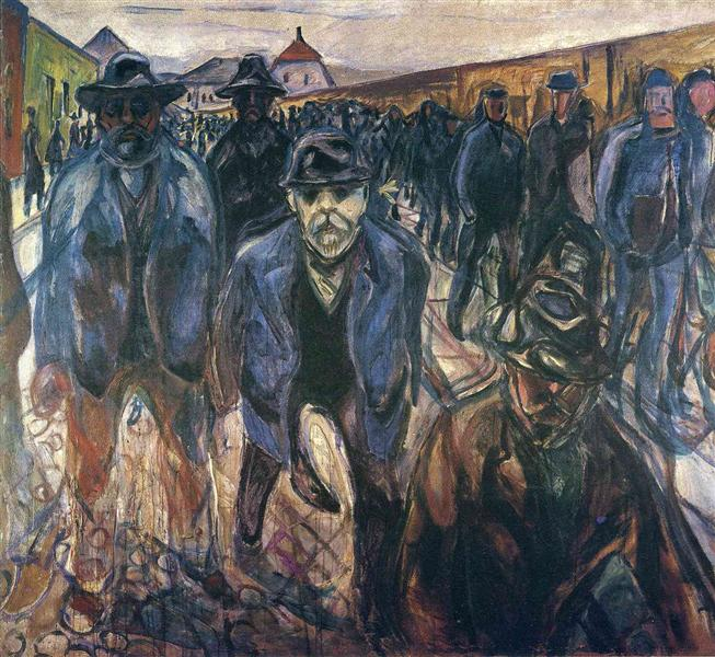 Workers on Their Way Home, 1913 - 1915 - Edvard Munch