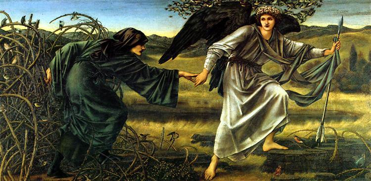 Love Leading The Pilgrim, 1877 - 1896 - Edward Burne-Jones