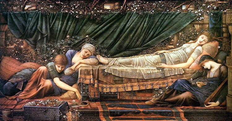 The Sleaping Beauty, 1870 - 1890 - Edward Burne-Jones