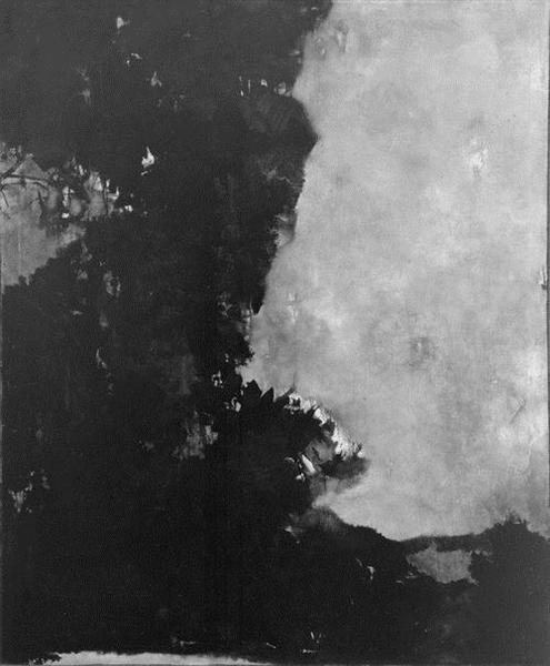 Untitled (Black Painting), 1950 - Edward Corbett