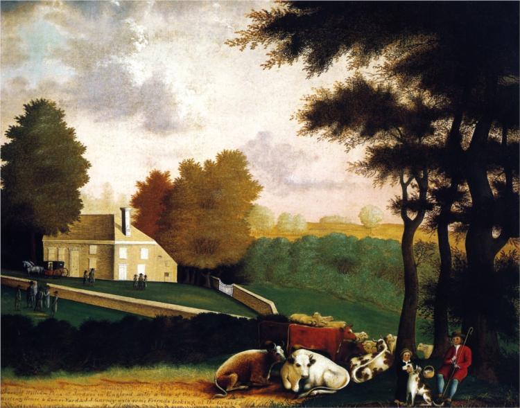 Grave of William Penn at Jordans in England, 1848 - Edward Hicks