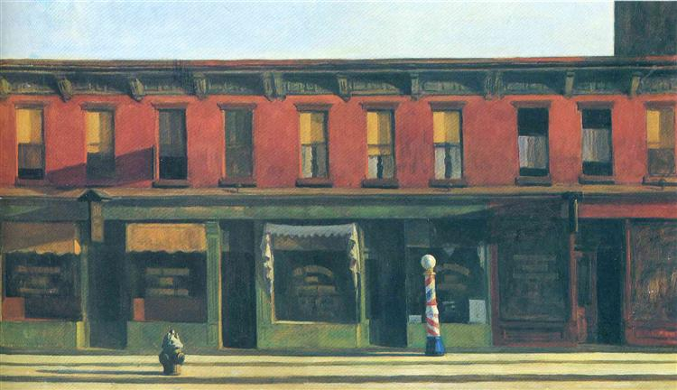 Early Sunday Morning, 1930 - Edward Hopper