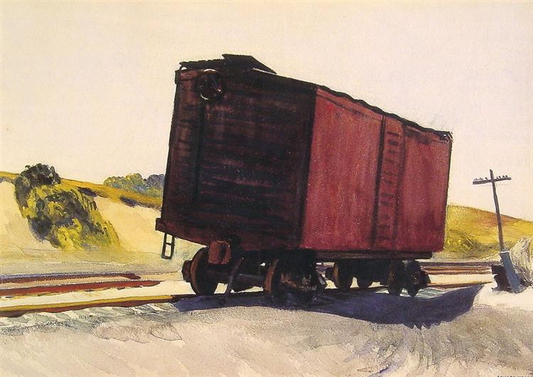 Freight Car at Truro, 1931 - Edward Hopper