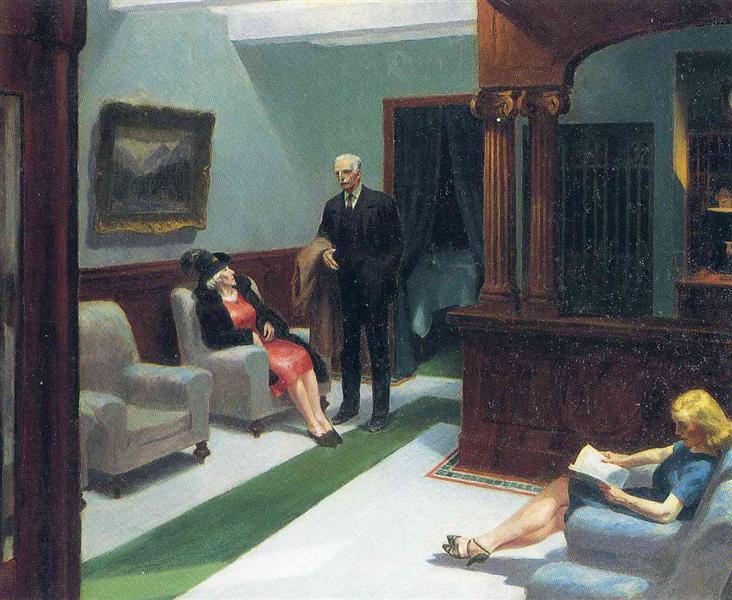 Hotel Lobby, 1943 - Edward Hopper