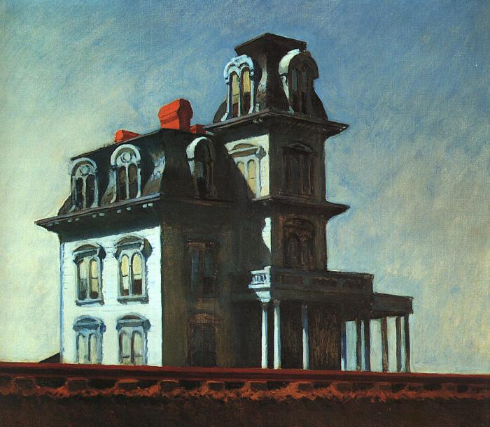 House by the railroad 1925 edward hopper - La casa del cuadro ...