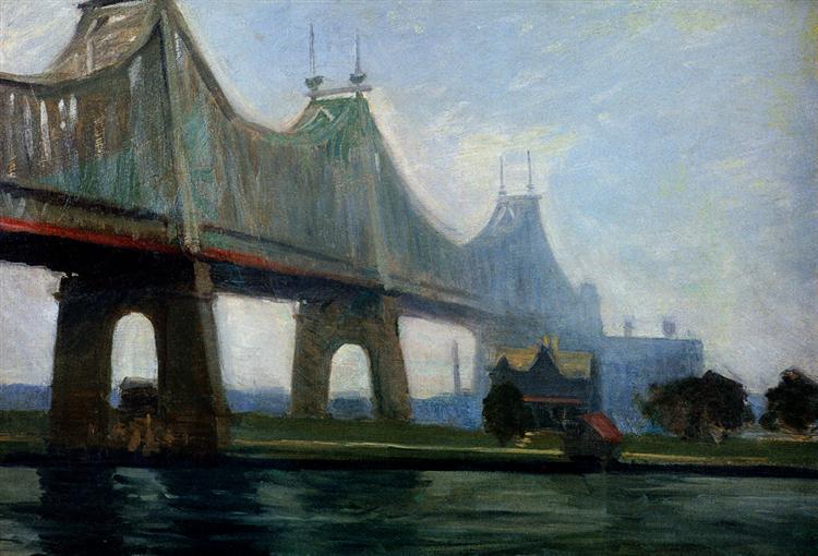 Queensborough-Bridge, 1913 - Edward Hopper