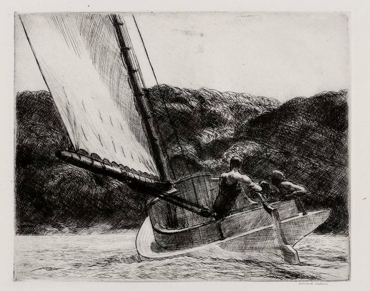 The Cat Boat - Edward Hopper