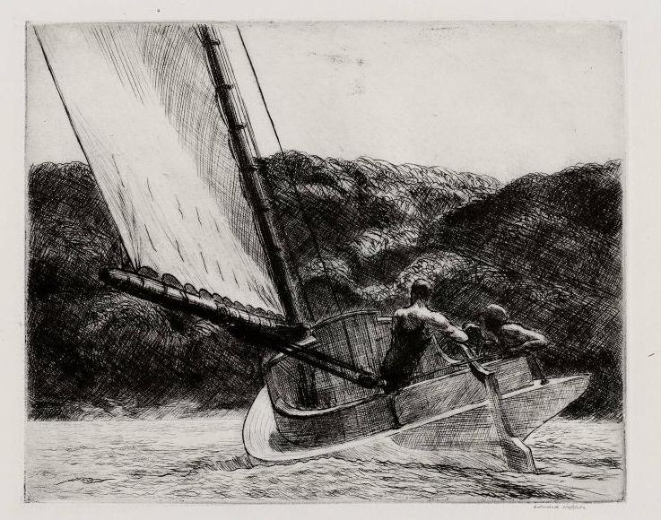 The Cat Boat, 1922 - Edward Hopper