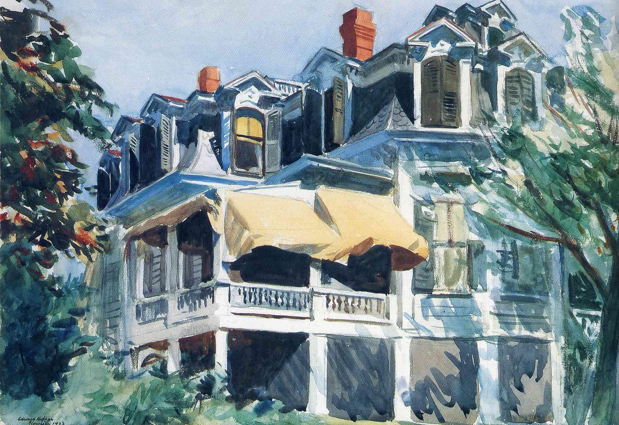 The Mansard Roof 1923 Edward Hopper Wikiart Org