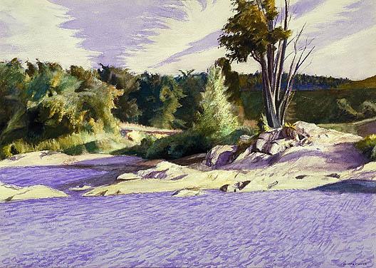 White River at Sharon, 1937 - Edward Hopper