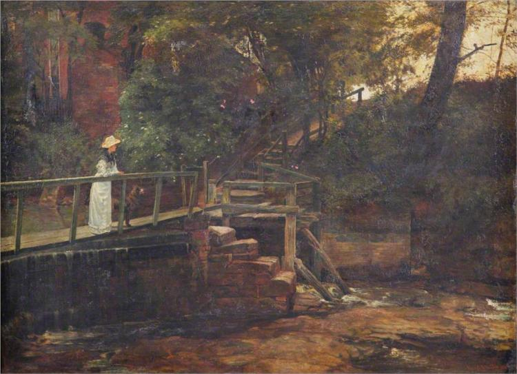 Footbridge at Birch Hill House, Mucklow Hill, Worcestershire, 1887 - Edward R. Taylor
