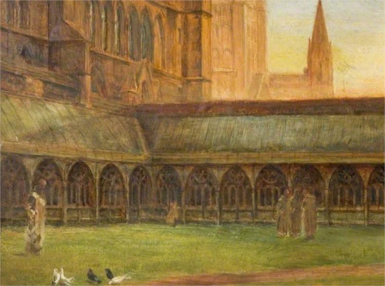 Lincoln Cathedral, the Cloisters, 1880 - Edward R. Taylor