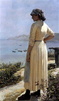On the look out for her boat - Edward R. Taylor
