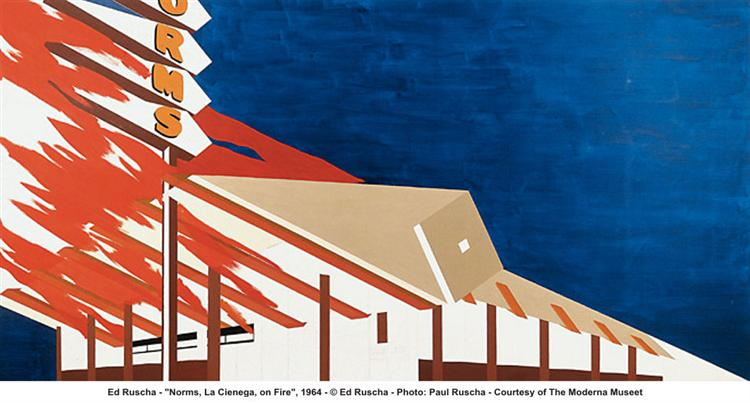 Norms, La Cienaga on Fire, 1964 - Edward Ruscha