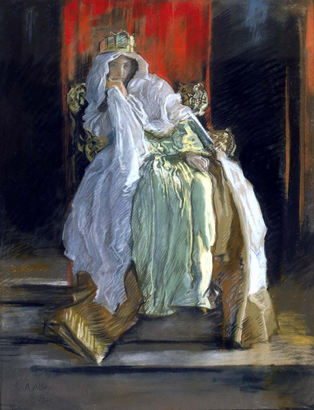 La reine dans Hamlet, 1895