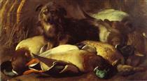Decoyman's Dog and Duck - Эдвин Генри Ландсир