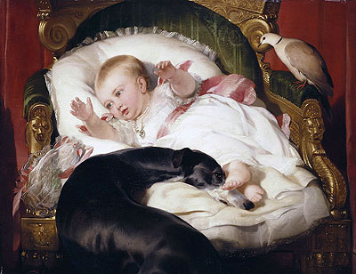 Victoria, Princess Royal, with Eos - Edwin Henry Landseer