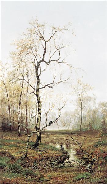 In Forest after Spring, 1877 - Efim Volkov
