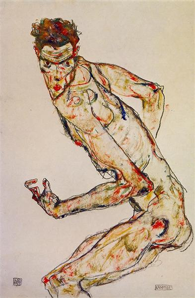 Fighter, 1913 - Egon Schiele