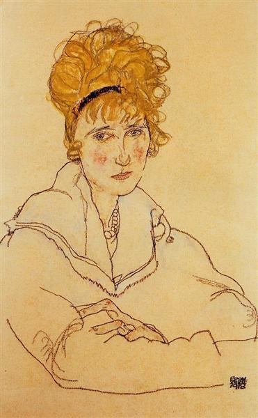 Portrait of Edith Schiele, 1918 - Egon Schiele